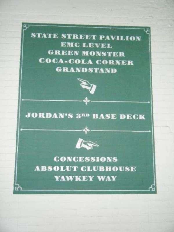Fenway Park, section: 3rd Base Deck