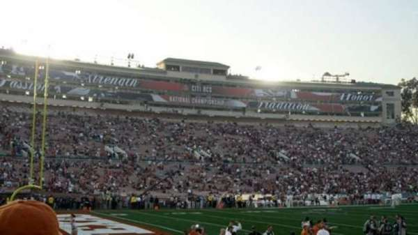 Rose Bowl, section: 1-L, row: 6, seat: 5