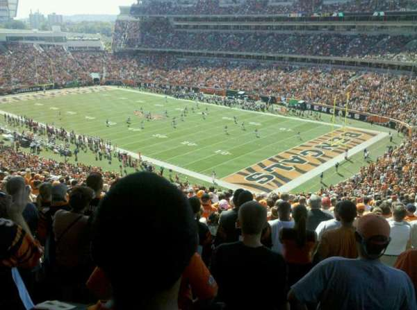 Paul Brown Stadium, section: E, row: 22, seat: 5