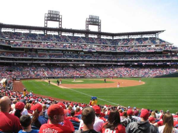 Citizens Bank Park, section: 109, row: 28, seat: 3