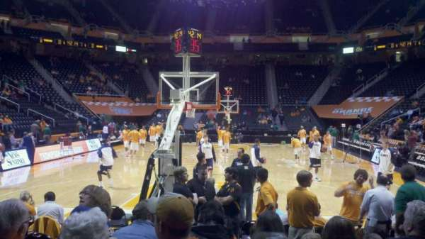 Thompson-Boling Arena, section: 129, row: 2, seat: 5