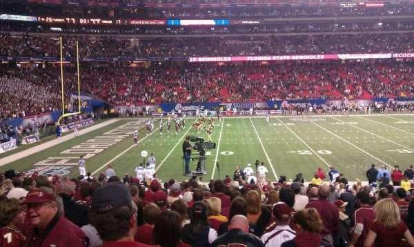 Georgia Dome, section: 119, row: 20, seat: 21