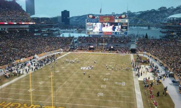 Heinz Field, section: 524, seat: 11