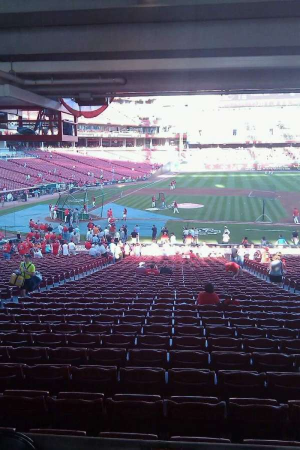 Great American Ball Park, section: 129, row: NN, seat: 8