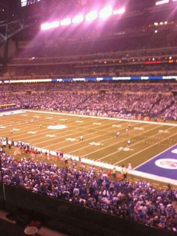 Lucas Oil Stadium, section: 208