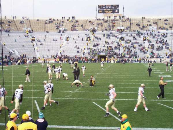 Notre Dame Stadium, section: 18, row: 13, seat: 5