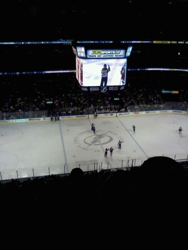 Amalie Arena, section: 317, row: K, seat: 10