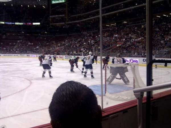 Gila River Arena, section: 107, row: B, seat: 2