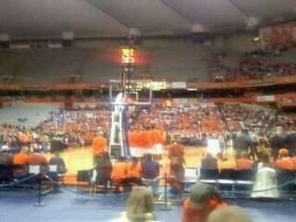 Carrier Dome, section: floor, row: DD , seat: 8