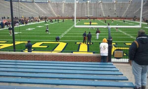 Michigan Stadium, section: 12, row: 12, seat: 10