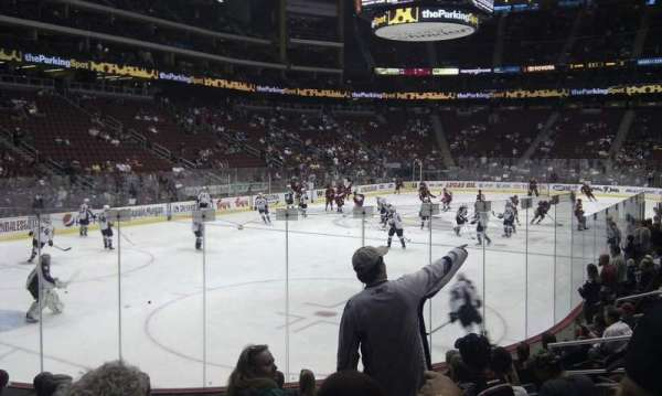 Gila River Arena, section: 104, row: j, seat: 9