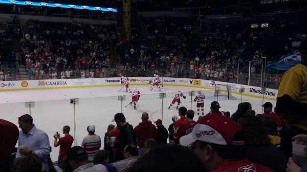 Bridgestone Arena, section: 106, row: LL, seat: 8