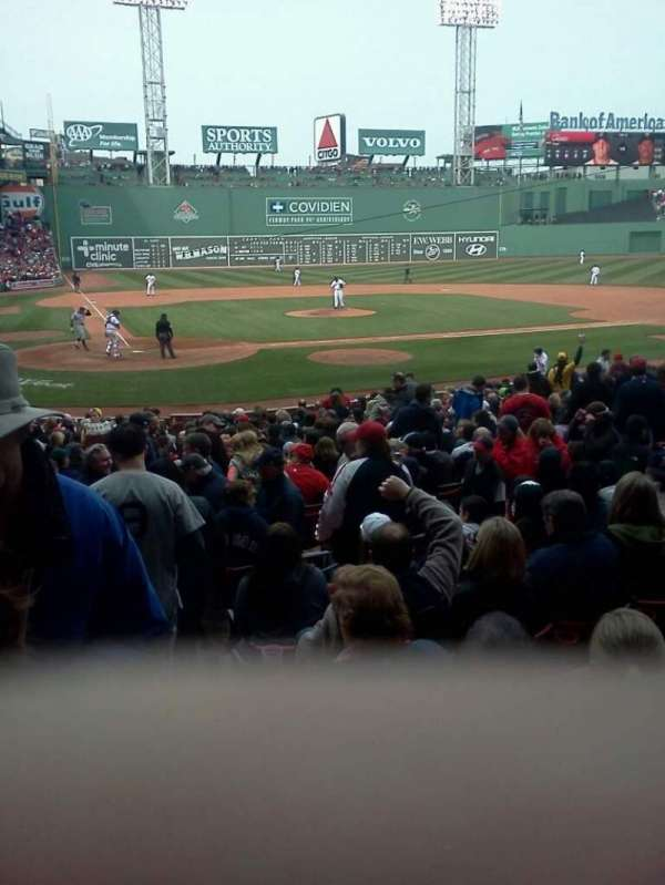 Fenway Park, section: Field Box 38, row: L, seat: 9