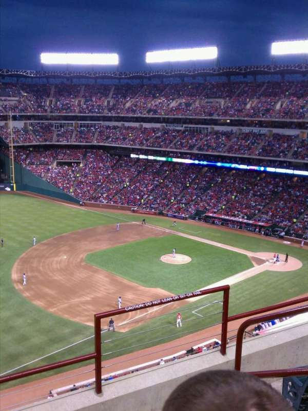 Globe Life Park in Arlington, section: 314, row: 2, seat: 17