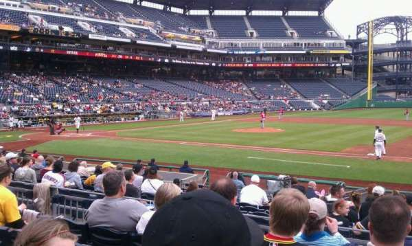 PNC Park, section: 109, row: e, seat: 3