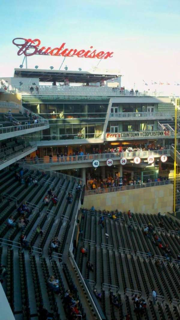Target Field, section: 223, row: 1, seat: 6