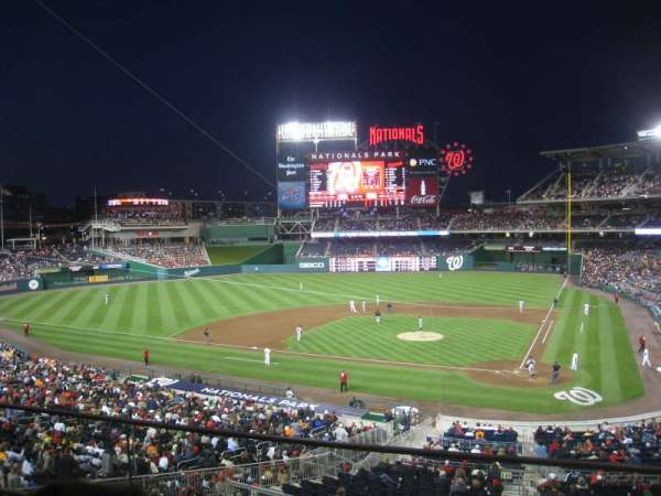 Nationals Park, section: 210, row: B, seat: 1