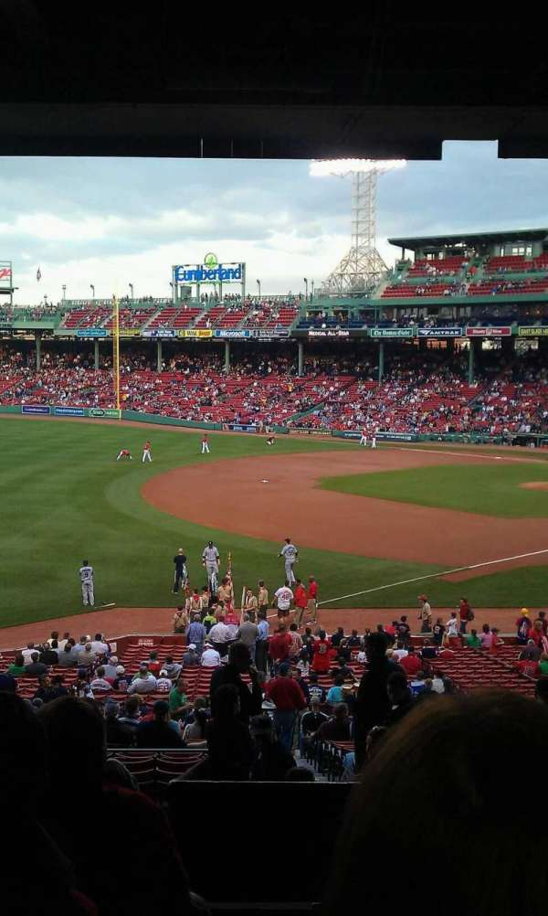 Fenway Park, section: Grandstand 32, row: 12, seat: 4