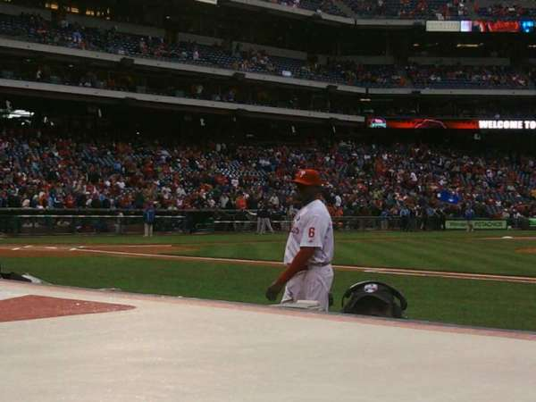 Citizens Bank Park, section: 116, row: 1, seat: 1