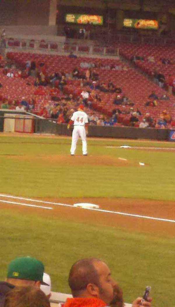 Great American Ball Park, section: 103, seat: 1