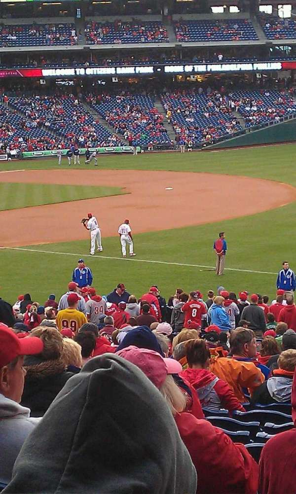 Citizens Bank Park, section: 111, row: 30, seat: 8