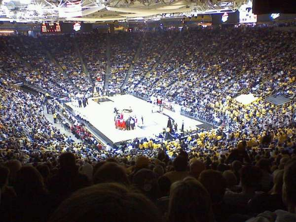 Carver-Hawkeye Arena, section: D