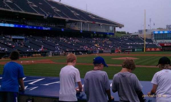 Kauffman Stadium, section: 135, row: D, seat: 6