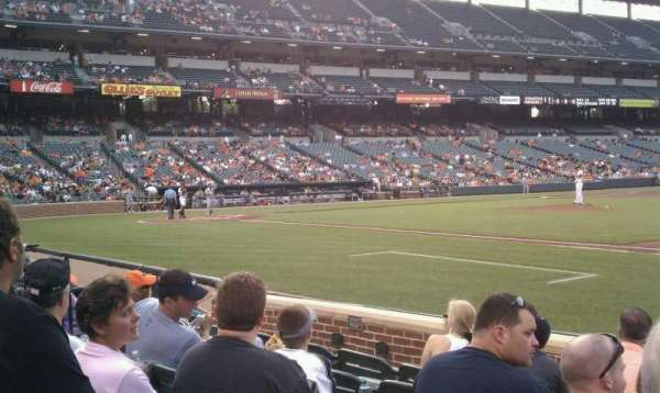 Oriole Park at Camden Yards, section: 18, row: 6, seat: 1