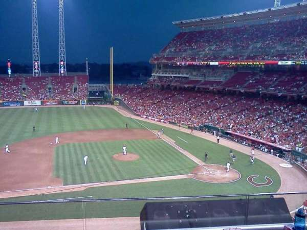 Great American Ball Park, section: 417, row: B, seat: 5