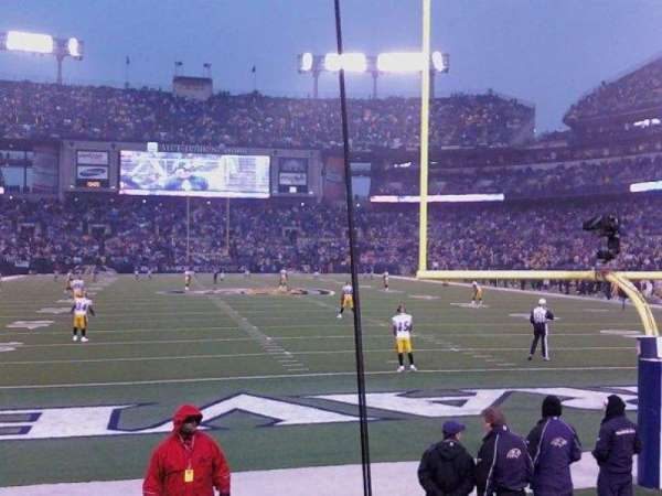 M&T Bank Stadium, section: 114, row: 4, seat: 3