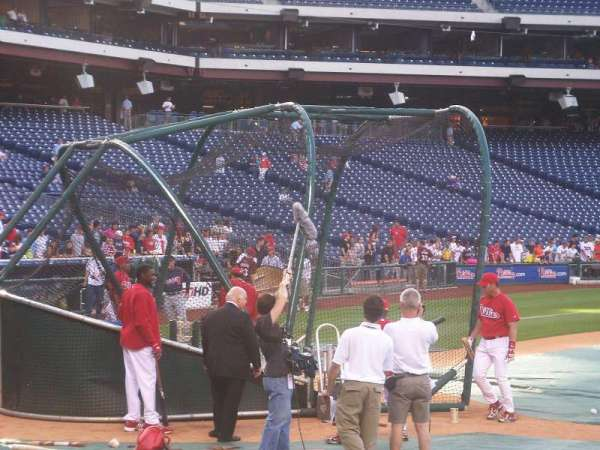 Citizens Bank Park, section: 116, row: 4, seat: 1