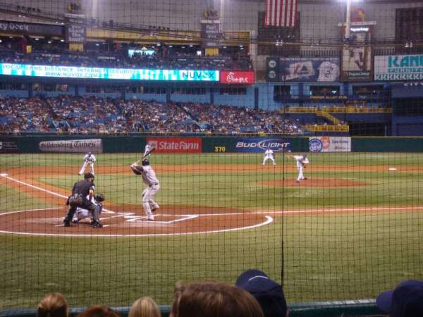 Tropicana Field, section: 108, row: J, seat: 5