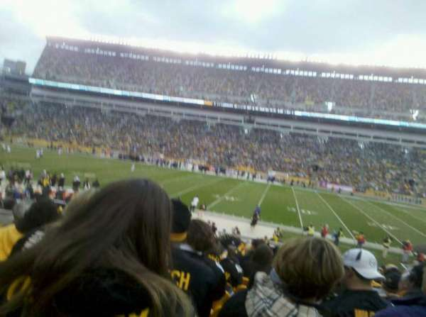 Heinz Field, section: 136, row: H, seat: 8