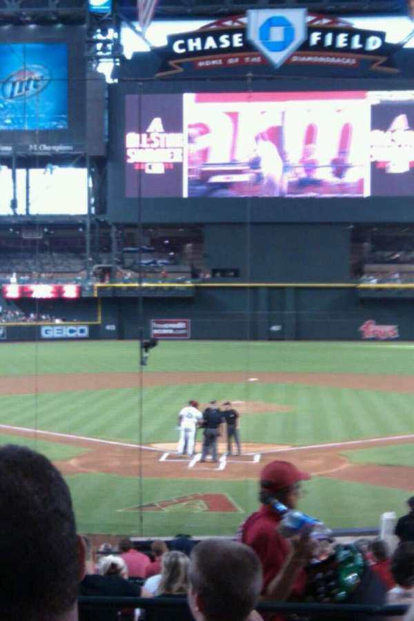 Chase Field, section: 122, row: 26, seat: 3