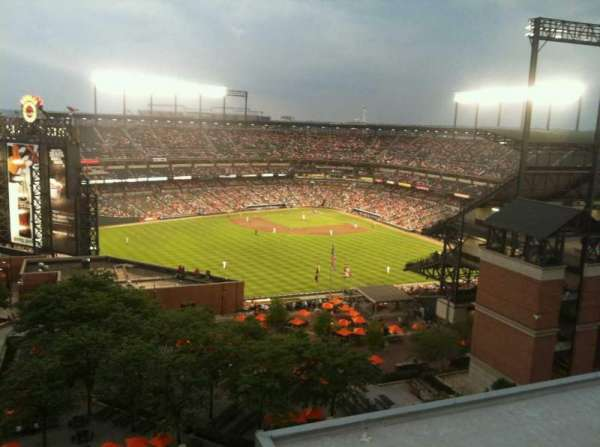 Oriole Park at Camden Yards, section: Hilton Hotel
