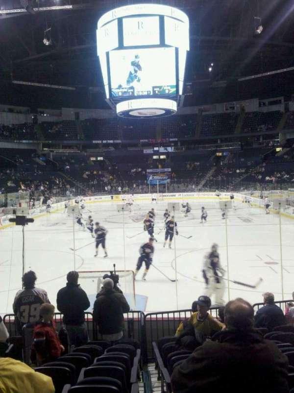 Bridgestone Arena, section: 101, row: d, seat: 11