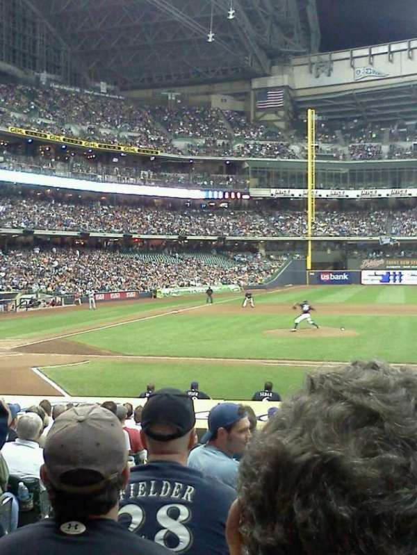 Miller Park, section: 113, row: 18, seat: 02