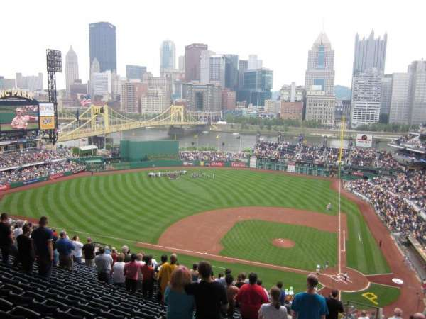 PNC Park, section: 321, row: Y, seat: 1 and 2