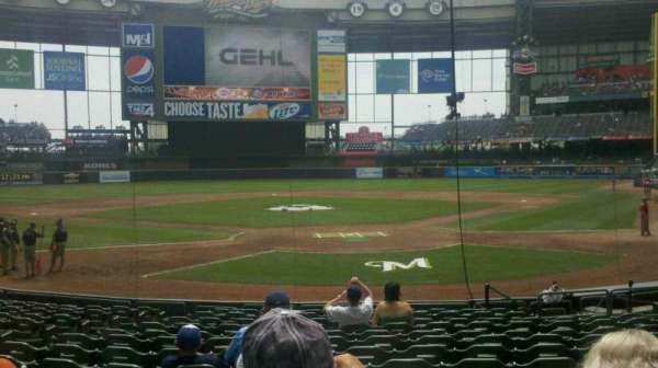Miller Park, section: 118, row: 15, seat: 13