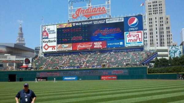 Progressive Field, section: 130, row: E, seat: 1