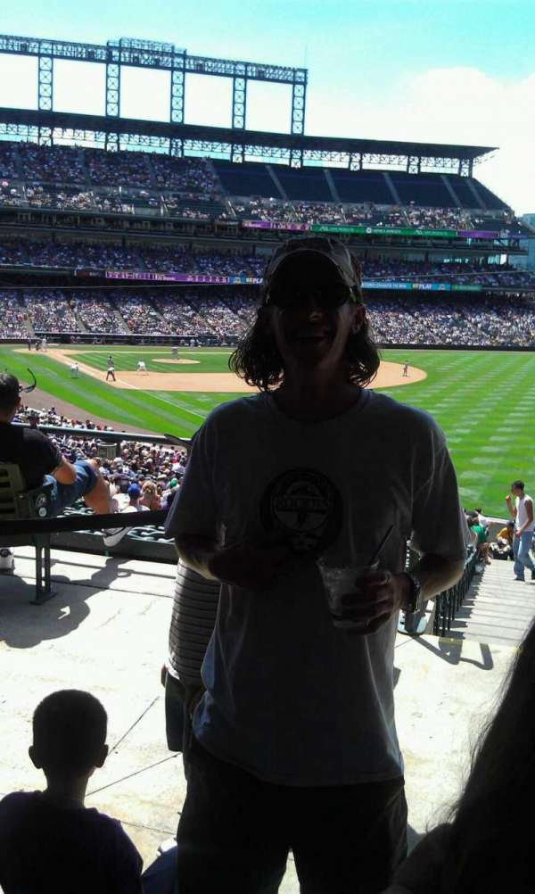 Coors Field, section: 119, row: 5, seat: 4