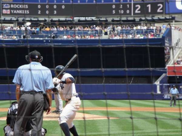 Yankee Stadium, section: 020, row: 2, seat: 4
