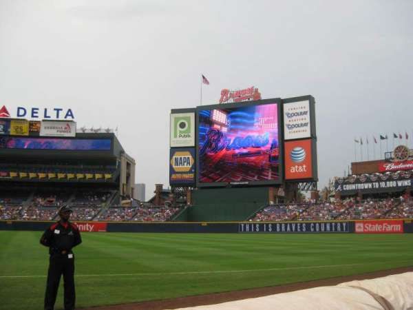 Turner Field, section: 119L, row: 2, seat: 106