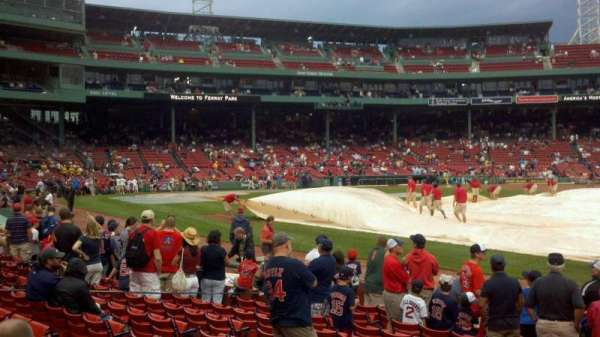 Fenway Park, section: Field Box 13, row: j, seat: 4
