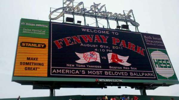 Fenway Park, section: CF