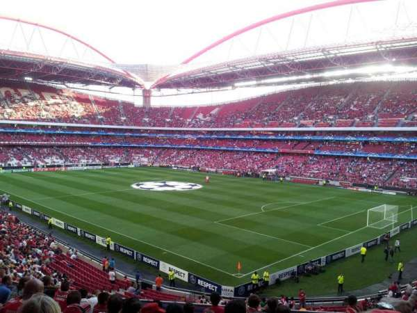 Estádio da Luz, section: 21, row: H, seat: 17