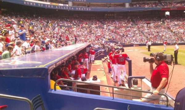 Turner Field, section: 117r, row: 2, seat: 4