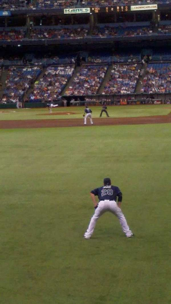 Tropicana Field, section: 133, row: t, seat: 24