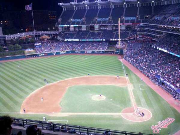 Progressive Field, section: 559, row: M, seat: 4