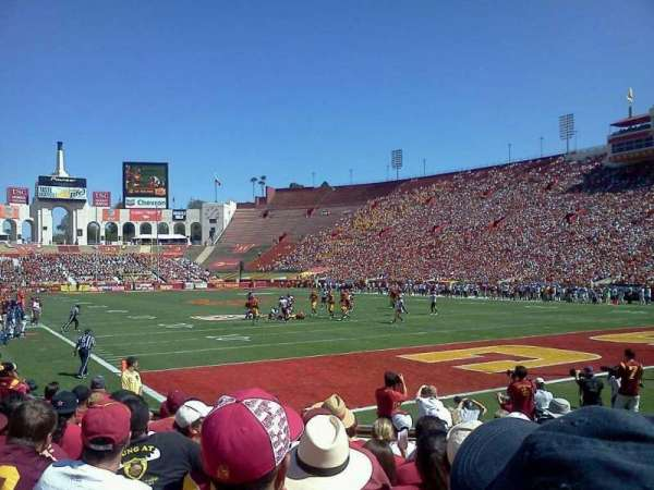 Los Angeles Memorial Coliseum, section: 117, row: 9, seat: 4